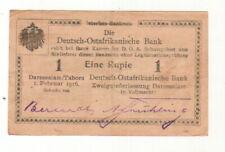 ++DOA  GERMAN EAST AFRICA  1 Rupie 1.2.1916  Ro 928 x   Serie D3   ++