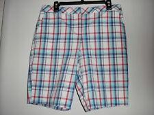 Izod New Multicolor Plaids 97%Cotton Women's Golf Shorts 10