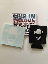 DOYLE LAWSON & QUICKSILVER AUTOGRAPH SIGNED LIVE PRAGUE CD w KOOZIE & STICKER