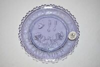 """1983 Vintage Pairpoint Glass Co. Cup Plate """"LAVENDER"""" Purple In Praise of Herbs"""