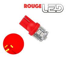 1 Bombilla W5W T10 10 LED ROJO Luz Luz techo iluminación cabina Espejos