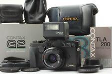 【OPTICAL MINT SET】 Contax G2 Black + Biogon 28mm f/2.8 T* TLA200 From Japan 653