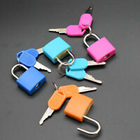 4Pc Coloured Coated Brass Pad Lock Travel Luggage Bag Suitcase Padlock Key New
