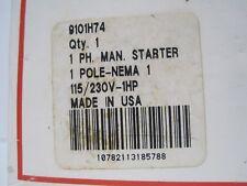 Cutler Hammer Manual Starter, 9101H74, 1 Pole, 115/230 Vac, 1 HP