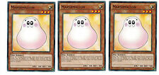 Yugioh 3 X (3 Karten) Marshmallon YGLD-DEC22 Common, Mint, Playset