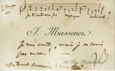 Jules MASSENET (Composer): Printed Visiting Card w AMQS