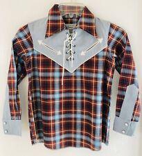HbarC California Ranch Wear Vintage Kids Cowboy Shirt Deadstock.