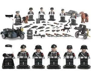 """WW2 Armee Soldaten Minifiguren Mit Waffen Militärische """" die letzten Set's"""""""