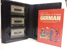 Just Listen'n Learn German by Passport Books, Book and (3) 60-Minute Cassettes