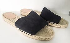 J CREW Navy Suede Espadrilles Sliders Sandals Shoes NEW Size UK 5 US 8