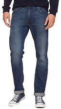 Lee Daren Slim Fit Tapered Jeans Men Vintage Dark Blue Worn Straight Faded Denim