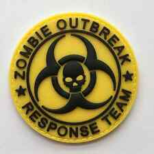 ZOMBIE OUTBREAK RESPONSE TEAM SKULL 3D PVC RUBBER TACTICAL PATCH  SJK 556