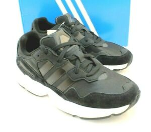 New ADIDAS Size 9 Yung 96 Black / White Suede Men's Running Shoes RETAIL $100