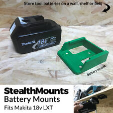 5x GREEN Battery Mounts for Makita 18v LXT Li Ion Batteries Holders Wall Hanger