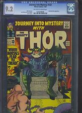 JOURNEY INTO MYSTERY #122 CGC NM- 9.2; OW-W; Kirby cover/art!
