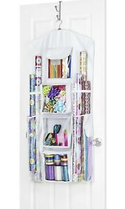 Whitmor Hanging Gift Wrap Organizer Wrapping Paper Storage