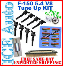 04-08 F150 5.4L Complete TUNE UP KIT 8 COILS+ 8 PLUGS SP515 + AIR GAS OIL FILTER