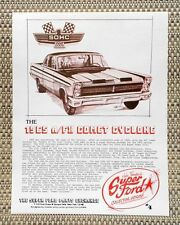 1965 FORD MERCURY A/FX 427  SOHC COMET CYCLONE DRAG CAR LITERATURE FACT SHEET 4