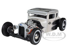 1929 FORD MODEL A WHITE HARLEY DAVIDSON 1:24 DIECAST MODEL CAR BY MAISTO 32175