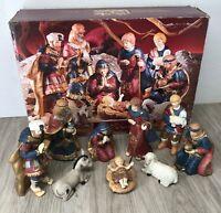 "10"" Grandeur Noel 9 Piece Porcelain Nativity set Collectors Edition As-is Joesph"