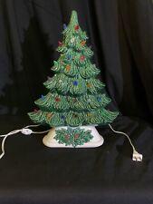 Vintage Rare Ceramic Christmas Tree Multi-Color bulbs