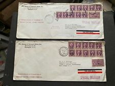 1939 WASH DC AMF SPECIAL DELIVERY AIR +COIL STRIPS ! FDR ECONOMIC -THOMAS EDISON