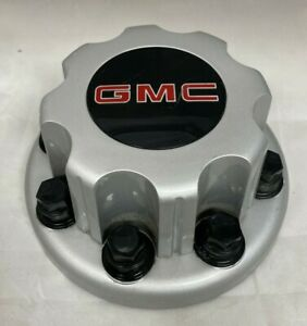 "GMC Sierra Truck SAVANA Van 3500 1-ton 16"" Dually REAR SILVER Center Hub Cap"