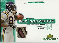 2001 UPPER DECK MVP SOUVENIRS RANDY MOSS GAME USED BALL LOGO 12/10/00 HOF VIKING