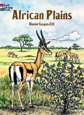 Dover AFRICAN PLAINS Adult Coloring Book Diane Gaspas-Ettl Fine 1996
