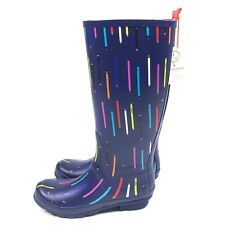 Anthropologie Rain Boots Pencil Novelty Print Size 9 Conversation Capsule NEW