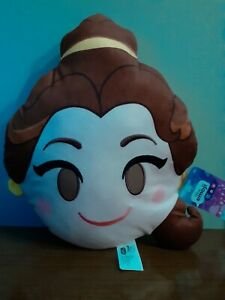 """Disney Emoji beauty and the beast  13"""" Soft Plush Pillow NWT Belle"""