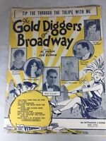 Vtg Sheet Music: Tip Toe through the Tulips ( Gold Diggers of broadway) 1929