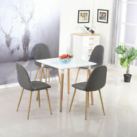 DIY Dining Table Glass Metal Table 4 Chairs Kitchen Dining Room Furniture
