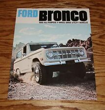 1968 Ford Bronco All-Purpose 4-Wheel Drive Sales Brochure 68