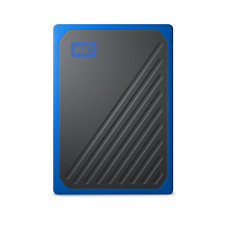 NEW WD 500GB My Passport Go Portable External SSD WDBMCG5000ABT-WESN in Blue