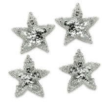 SEQUIN BEADED FOUR 1In STARS APPLIQUES 3893-T2