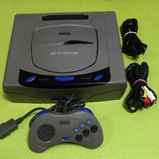 Sega Saturn Console System Gray HST Tested Working Game Controller Set Retro