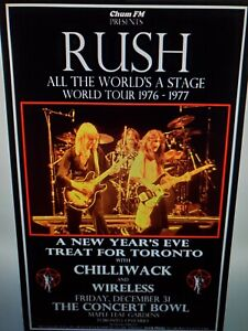Rush All The Worlds A Stage Toronto Poster