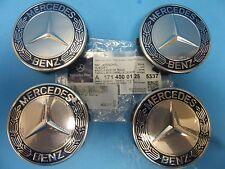 4 Wheel Hub Cap W. Mercedes Benz Emblem OEM# 1714000125 Alloy Wheel Royal Blue