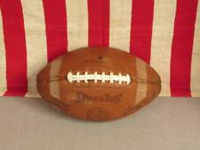 Vintage Spalding Leather Football w/ Laces Junior Varsity Model Jimmy Sidle Ball