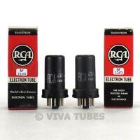 True NOS NIB Matched Pair RCA USA 6SK7 Metal Rattle Vacuum Tubes