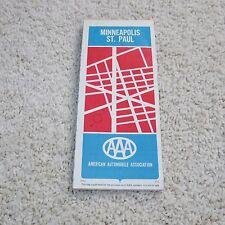 Vintage 1981 AAA Minneapolis St. Paul and Vicinity Minnesota Map - Used/GC