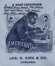 American Soap Co J Kirk Co Pipe Smoker Quill Ink Chicago Flag J 1897 Cover 7n