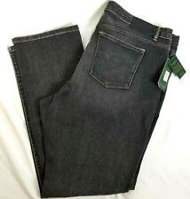 LRL Ralph Lauren Womens 18W Jeans Denim Straight Heritage Slimming Black Gray