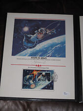 Russia Alexei Leonov Original First Man to Walk In Space Signature & stamps JSA