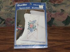 Bucilla Stamped Pillowcase Pair Rose Trellis Special Edition #63327 (Unopened)