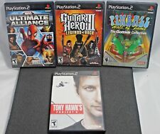 4 Playstation 2 PS2 Games Ultimate Alliance, Pinball, Project 8, Guitar Heo III