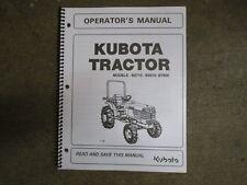 Kubota B7800 B2710 B2910 B 2710 2910 7800 tractor owners & maintenance manual