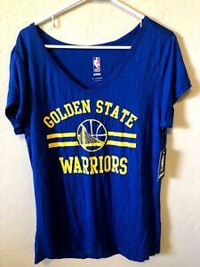 Ladies XL Brand New Golden State Warriors V Neck T-Shirt NWT NBA $30 Retail