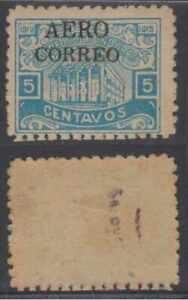 HONDURAS 1925 Sc C1 Yvert PA1 BLACK OVERPRINT HINGED MINT FINE €160.00+